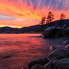 Lake Tahoe : Lake Tahoe is magnificently beautiful, especially at dawn and dusk when the clouds reflect a full spectrum of colors across the shimmering water.