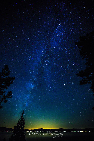 Milky Way from the east shore of Lake Tahoe