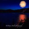 Fireworks over Incline Village, Lake Tahoe, NV