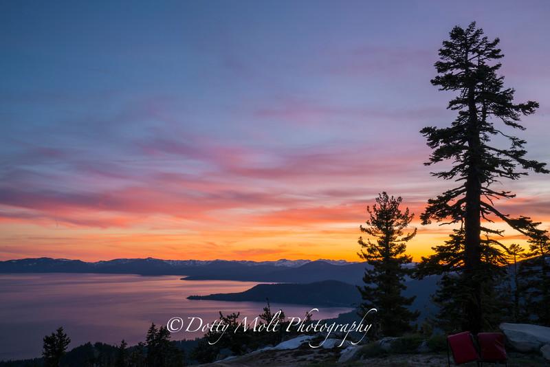Diamond Peak Sunset
