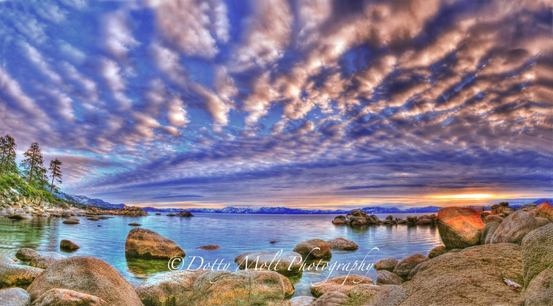 Painted Sunset, Hidden Harbor, Lake Tahoe, NV