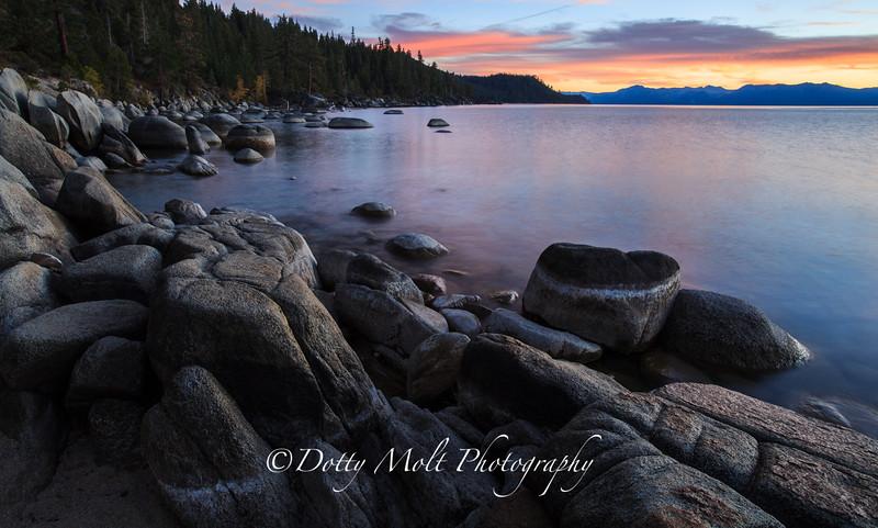 Silent Sunset, Chimney Beach, Lake Tahoe, Nevada