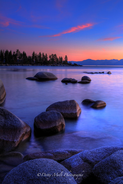 Sand Harbor Sunset Rocks