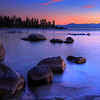 Sand Harbor Sunset Rocks