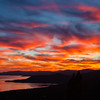 Silver Lining Sunset over Lake Tahoe