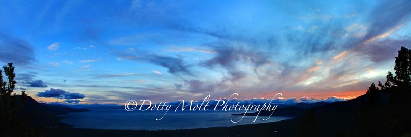 Summer Sunset Flare, Lake Tahoe, NV