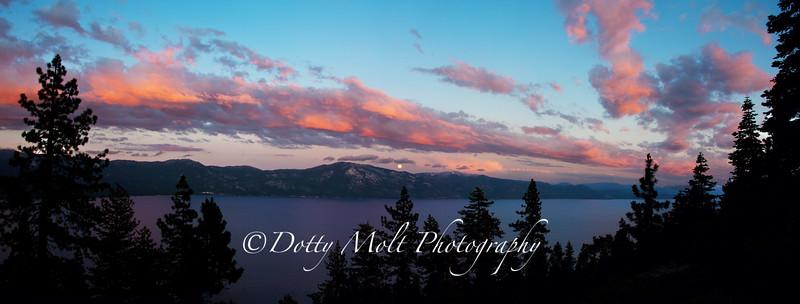 Moonrise Sunset Lake Tahoe