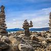 Cairns on Kings Beach, Lake Tahoe, CA
