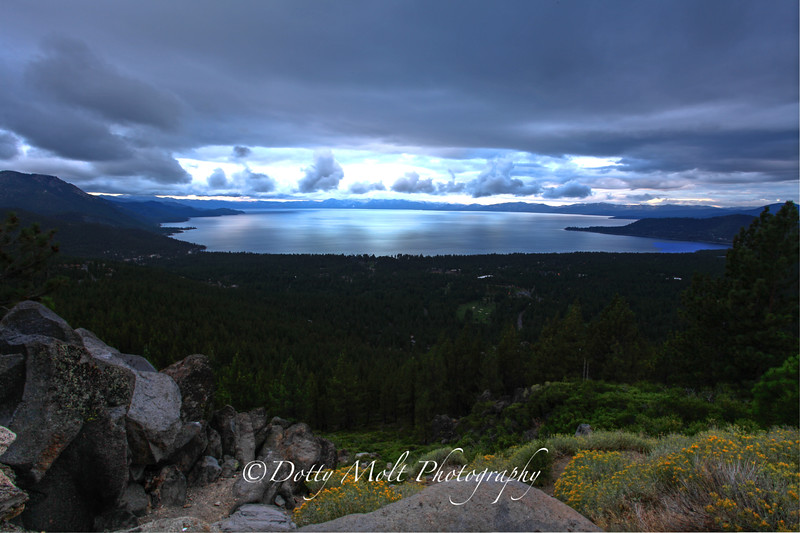 Summer Snowstorm Clouds over Lake Tahoe