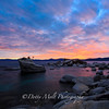Bonsai Rock Sunset, Lake Tahoe East Shore, Nevada