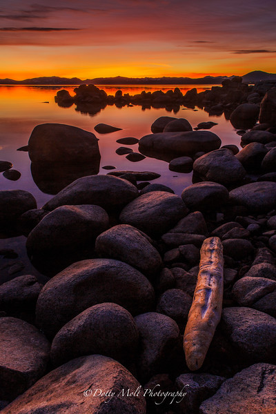 Logon Lake Tahoe at Sunset