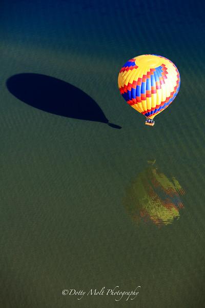 Balloon Reflections on Lake Tahoe, NV