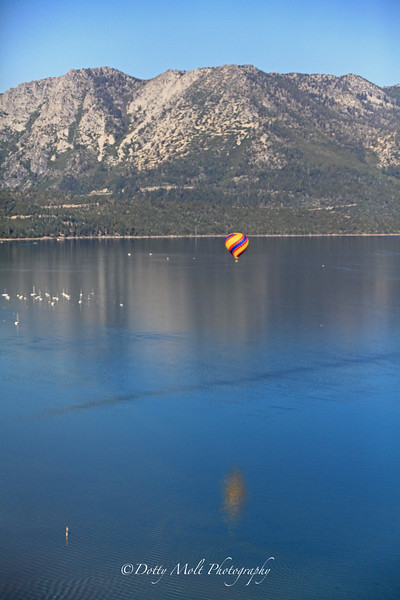 Ballooning over South Lake Tahoe, NV