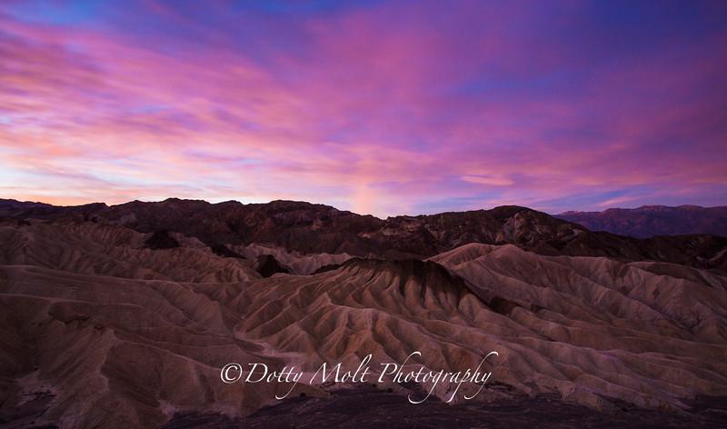 Pink Light, Zabriskie Point, Death Valley