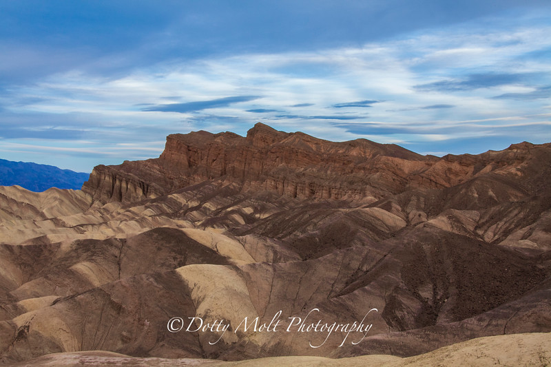 Zabriskie Point Morning sky Death Valley