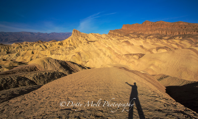 My Shadow and Me, Zabriskie Point, Death Valley