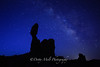 Arches National Park, Utah  Balanced Rock and the Milky Way