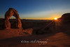 Arches National Park  Delicate Arch Sunstar