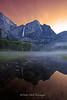 Yosemite Falls Red Sky in the Morning