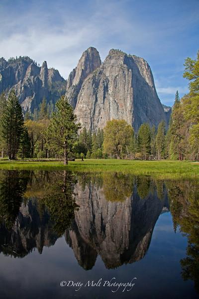 Yosemite Cathedral Rocks Morning Reflections