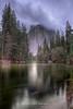 Yosemite Cathedral Rocks at Sunset