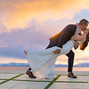 Wedding kiss tahoe sky4761