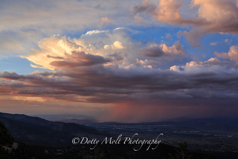 Thunderstorm over Reno from Slide Mountain