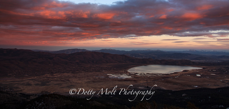 Washoe Valley from Slide at Sunset