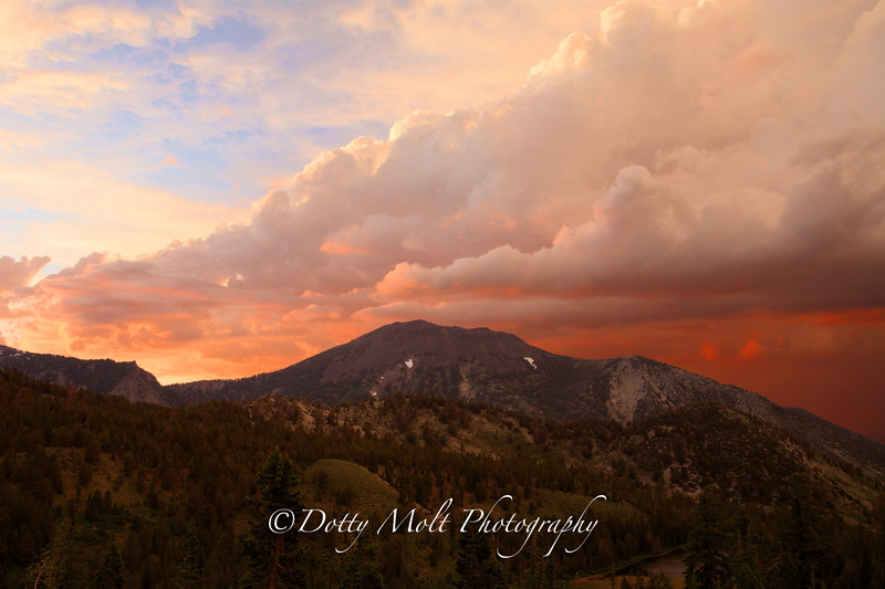 Mt. Rose Stormy Sunset