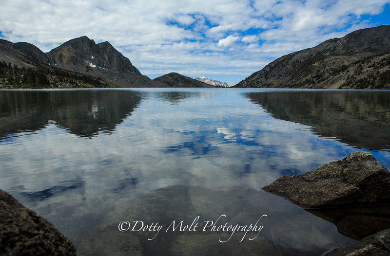 Duck Lake Clouds and Rocks, Mammoth Lakes, CA