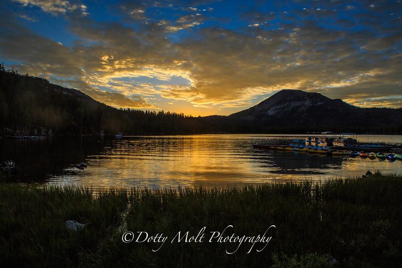 Lake Mary Marina Sunset