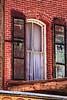 Virginia City Angled Brick window
