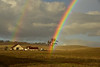 Double rainbow after intense winter storm, Paso Robles, California.