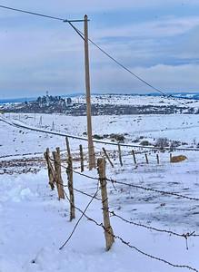 aubrac, paysage, hiver