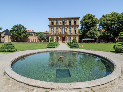 La pièce d'eau du Pavillon Vendôme