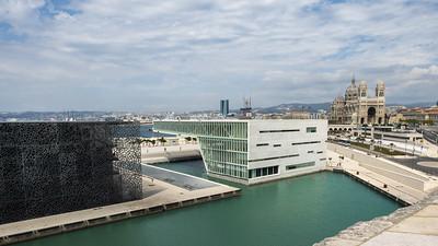 Marseille - Le Mucem et le Palais de la Méditerannée