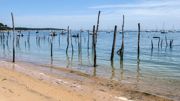 La plage de l'Herbier à marée haute