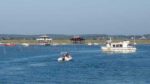 Les célèbres cabanes tchanquées de l'Île aux Oiseaux