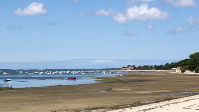 La plage de Taussat à marée basse