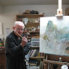 Doug in his studio, defending his turf.<br /> April 2009
