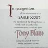 Eagle Scout Certificate<br /> Tony Blain
