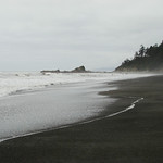 Beach #4, near Kalaloch, WA - Looking north, after hiking south from where the trail ended at the beach.