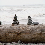 Ruby Beach, near Kalaloch, WA - Where the trail opened up to the beach, we were met with the sight of hundreds of cairns left by people that were EVERYWHERE. They added a bit of whimsy to the natural magic that this beach already had.