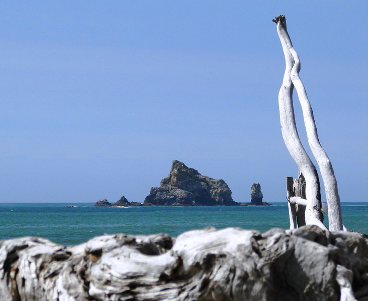 Rialto Beach, WA - One of the many rock formations and islands that sit off of this beach.