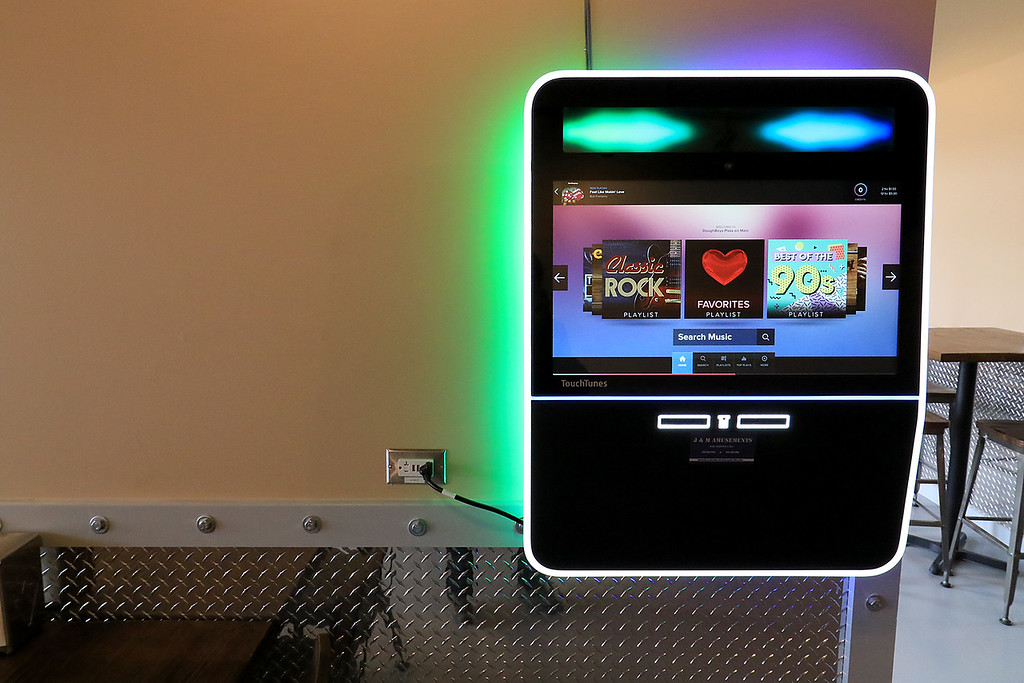. The new Fitchburg Pizza restaurant DoughBoys on Main will be officially open on Wednesday morning, January 29, 2019. On Tuesday they were making few pizza as tests. Their jukebox. SENTINEL & ENTERPRISE/JOHN LOVE
