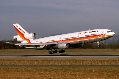 Air Europe (Italy) (ChallengAir) McDonnell Douglas DC-10-30 OO-JOT (msn 46850) BSL (Paul Bannwarth). Image: 912246.