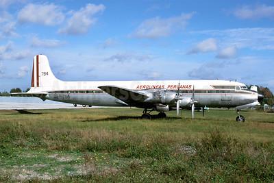 Aerolineas Peruanas-APSA Douglas DC-7B OB-R-784 (msn 44870) MIA (Bruce Drum). Image: 103521.