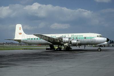 Dan Air London (Dan-Air Services) Douglas DC-7 G-ATAB (msn 45361) LGW (Jacques Guillem Collection). Image: 947787.