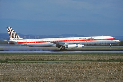 African Safari Airways-ASA McDonnell Douglas DC-8-63 5Y-ZEB (msn 46122) BSL (Christian Volpati Collection). Image: 930387.