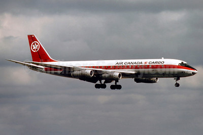 Air Canada Cargo McDonnell Douglas DC-8F-54 Jet Trader C-FTJL (msn 45640) LHR (SM Fitzwilliams Collection). Image: 910193.